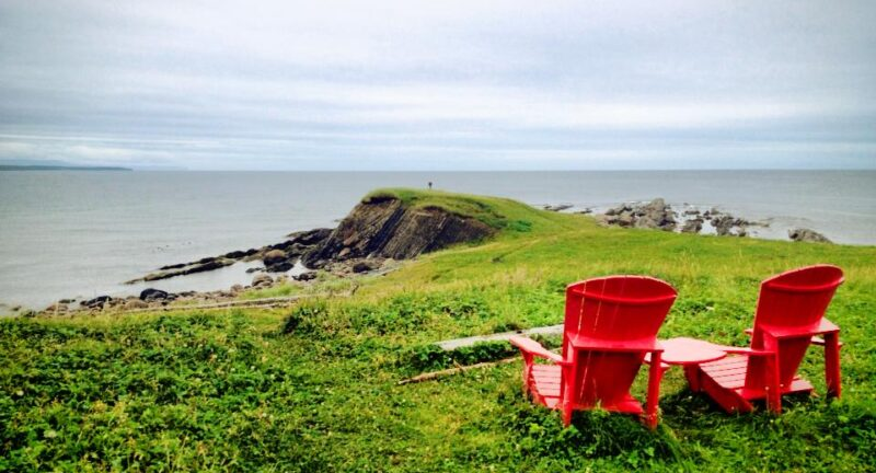 Red Chairs at Steves Trail